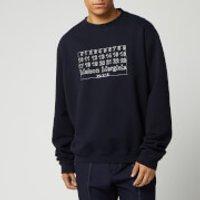 Maison Margiela Men's Diagonal Sweatshirt - Dark Blue - IT 52/XL