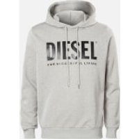 Diesel Men's Division Logo Hoody - Light Grey Melange - L