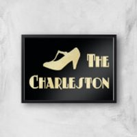 The Charleston Giclee Art Print - A4 - Black Frame