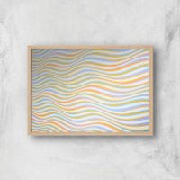 Psychedelic Waves Giclee Art Print - A3 - Wooden Frame