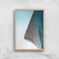 Tiled Corners Giclee Art Print - A4 - Wooden Frame