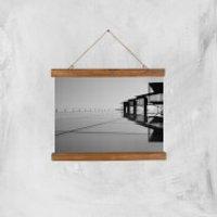 Roof Tops Giclee Art Print - A4 - Wooden Hanger - Tops Gifts