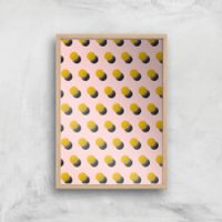 Bouncing Dots Giclee Art Print - A4 - Wooden Frame - Bouncing Gifts