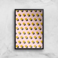 Bouncing Dots Giclee Art Print - A4 - Black Frame - Bouncing Gifts