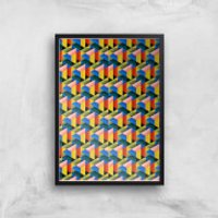 Fill The World With Colour Giclee Art Print - A3 - Black Frame - Colour Gifts