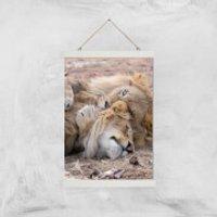 Morning Cuddles Giclee Art Print - A3 - White Hanger - Cuddles Gifts