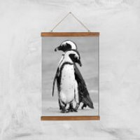 A Couple Of Penguins Giclee Art Print - A3 - Wooden Hanger - Penguins Gifts