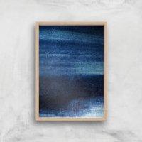 Blue Streaks Giclee Art Print - A2 - Wooden Frame