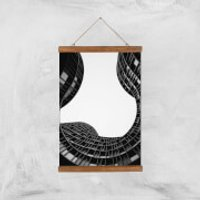 Wavey Architecture Giclee Art Print - A3 - Wooden Hanger - Architecture Gifts