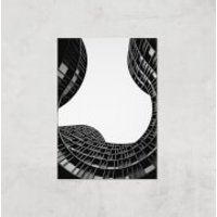 Wavey Architecture Giclee Art Print - A2 - Print Only - Architecture Gifts