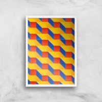 Stacked Colours Giclee Art Print - A4 - White Frame - Colours Gifts