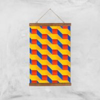Stacked Colours Giclee Art Print - A3 - Wooden Hanger - Colours Gifts