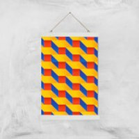 Stacked Colours Giclee Art Print - A3 - White Hanger - Colours Gifts