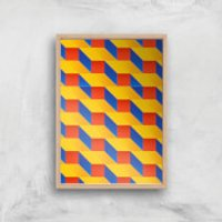 Stacked Colours Giclee Art Print - A3 - Wooden Frame - Colours Gifts