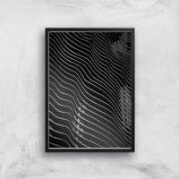 Wavey Building Giclee Art Print - A2 - Black Frame - Building Gifts