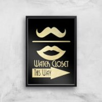 Water Closet Giclee Art Print - A4 - Black Frame
