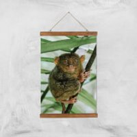 Those Big Brown Eyes Giclee Art Print - A3 - Wooden Hanger - Brown Gifts