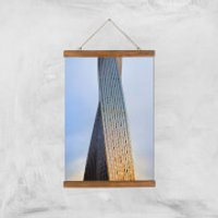 Twisted Building Giclee Art Print - A3 - Wooden Hanger - Building Gifts
