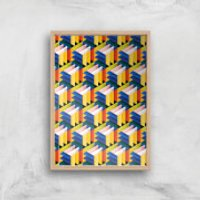 Intersected Colours Giclee Art Print - A4 - Wooden Frame - Colours Gifts