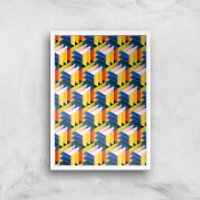 Intersected Colours Giclee Art Print - A4 - White Frame - Colours Gifts