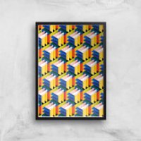 Intersected Colours Giclee Art Print - A4 - Black Frame - Colours Gifts