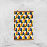Intersected Colours Giclee Art Print - A3 - Wooden Hanger - Colours Gifts