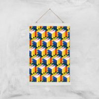 Intersected Colours Giclee Art Print - A3 - White Hanger - Colours Gifts