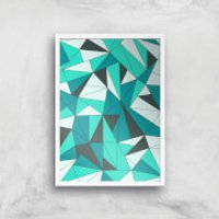 Shattered Glass Giclee Art Print - A3 - White Frame