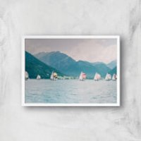 Sailing Giclee Art Print - A4 - White Frame - Sailing Gifts