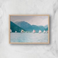 Sailing Giclee Art Print - A3 - Wooden Frame - Sailing Gifts
