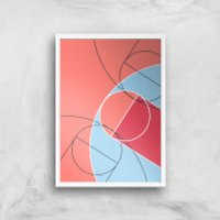 Abstract Court Giclee Art Print - A2 - White Frame