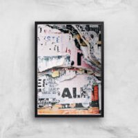 Post No Bills Giclee Art Print - A3 - Black Frame