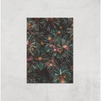 Flowers Like Fire Works Giclee Art Print - A4 - Print Only - Flowers Gifts