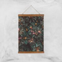 Flowers Like Fire Works Giclee Art Print - A3 - Wooden Hanger - Flowers Gifts