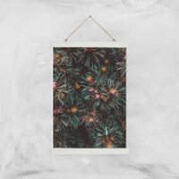 Flowers Like Fire Works Giclee Art Print - A3 - White Hanger - Flowers Gifts