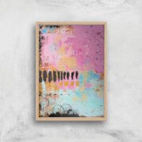 Abstract Cupcake Giclee Art Print - A2 - Wooden Frame - Cupcake Gifts