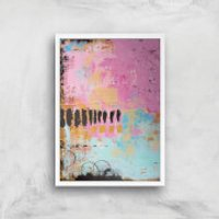 Abstract Cupcake Giclee Art Print - A2 - White Frame - Cupcake Gifts