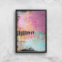 Abstract Cupcake Giclee Art Print - A2 - Black Frame - Cupcake Gifts