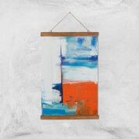 Beach Hut Views Giclee Art Print - A3 - Wooden Hanger - Beach Gifts