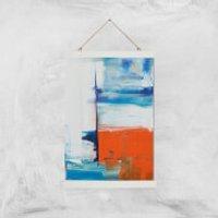 Beach Hut Views Giclee Art Print - A3 - White Hanger - Beach Gifts