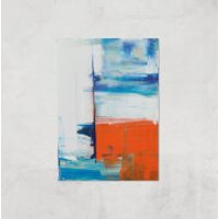 Beach Hut Views Giclee Art Print - A2 - Print Only - Beach Gifts