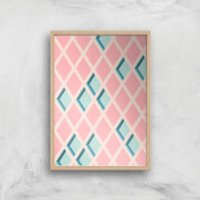 Push My Diamonds Giclee Art Print - A4 - Wooden Frame - Diamonds Gifts
