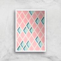 Push My Diamonds Giclee Art Print - A2 - White Frame - Diamonds Gifts