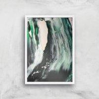 Raging Seas Giclee Art Print - A2 - White Frame