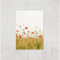 Poppy Fields Giclee Art Print - A4 - Print Only