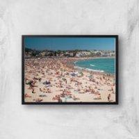 Summer Holidays Giclee Art Print - A3 - Black Frame - Summer Gifts