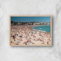 Summer Holidays Giclee Art Print - A2 - Wooden Frame - Summer Gifts