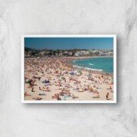 Summer Holidays Giclee Art Print - A2 - White Frame - Summer Gifts