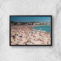 Summer Holidays Giclee Art Print - A2 - Black Frame - Summer Gifts