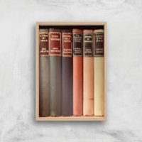 Old Book Shop Giclee Art Print - A4 - Wooden Frame - Shop Gifts